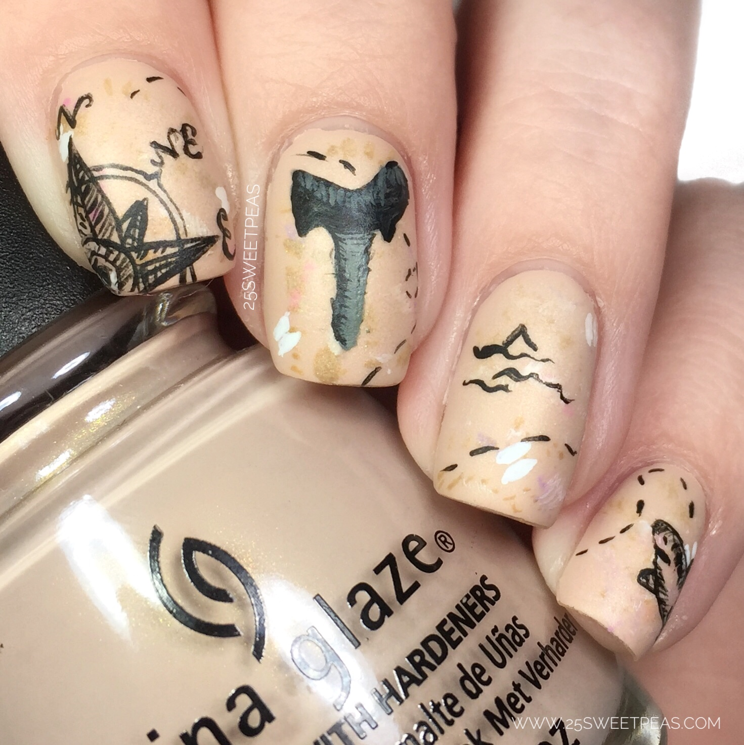 All Of Todays Manis Are Actually Inspired By Real Shark Teeth I Found On The Beach Funny Story When We First Moved To This Area Couldn T Find Any