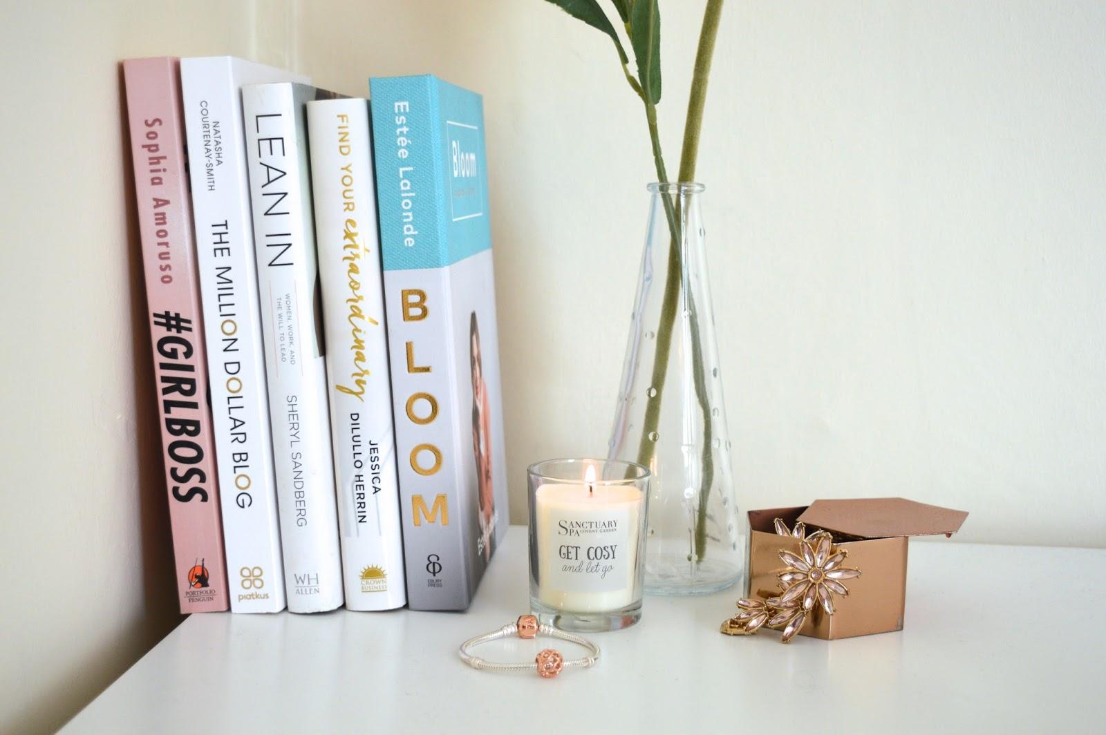 Motivational books for girl bosses, lifestyle blog, Dalry Rose blog