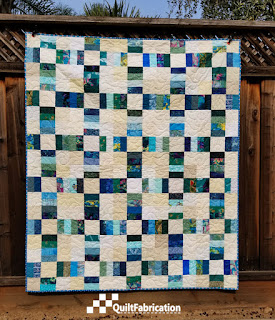 Sea Glass, a railroad crossing quilt pattern from Charm School