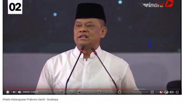 Di Pidato Kebangsaan Prabowo, Gatot Keluhkan Anggaran TNI dan Kritik Pencopotan Jabatan