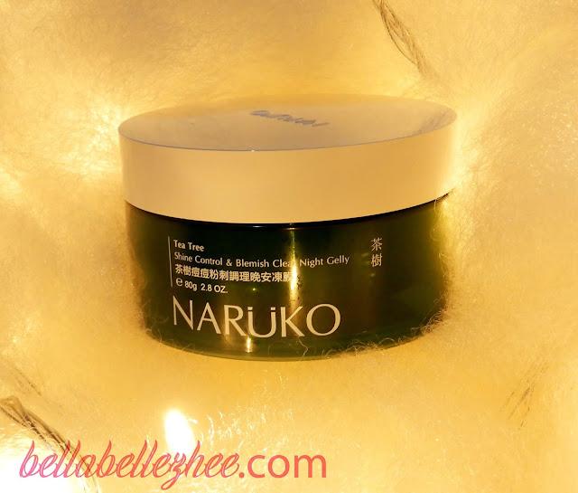 naruko indonesia tea tree shine control & blemish clear night gelly
