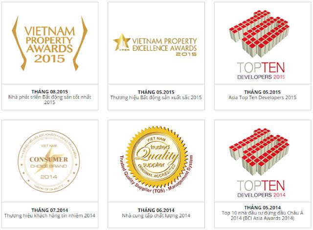 Những giải thưởng cao quý về BĐS mà Novaland đạt được
