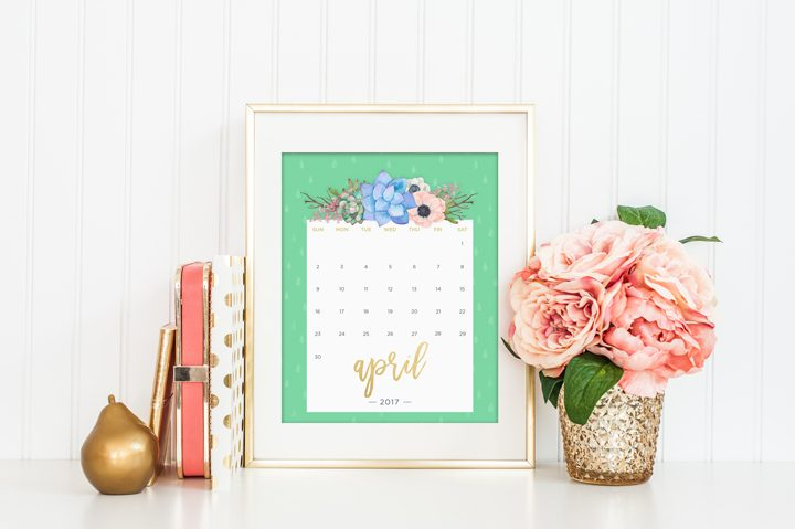 calendrier fleuri juin 2017