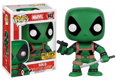 Hot Topic Exclusive Deadpool & the Mercs for Money Pop! Marvel Mystery Blind Box Vinyl Figures by Funko - Green Deadpool Solo