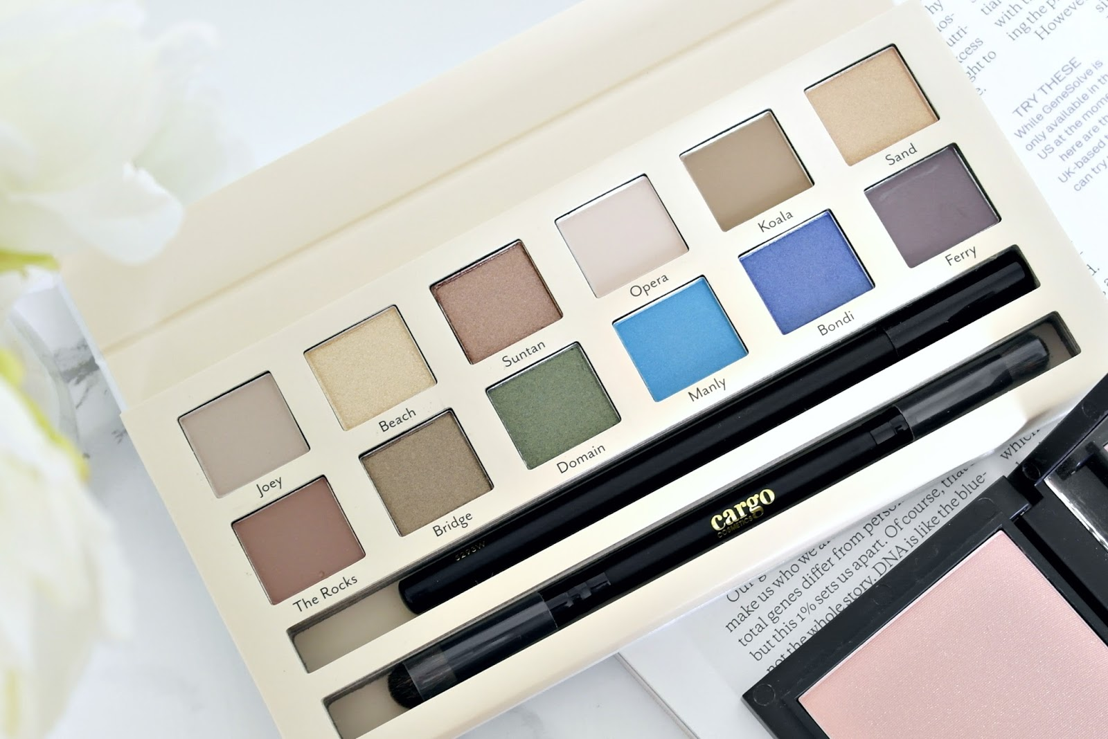 Cargo Cosmetics land down under palette, review