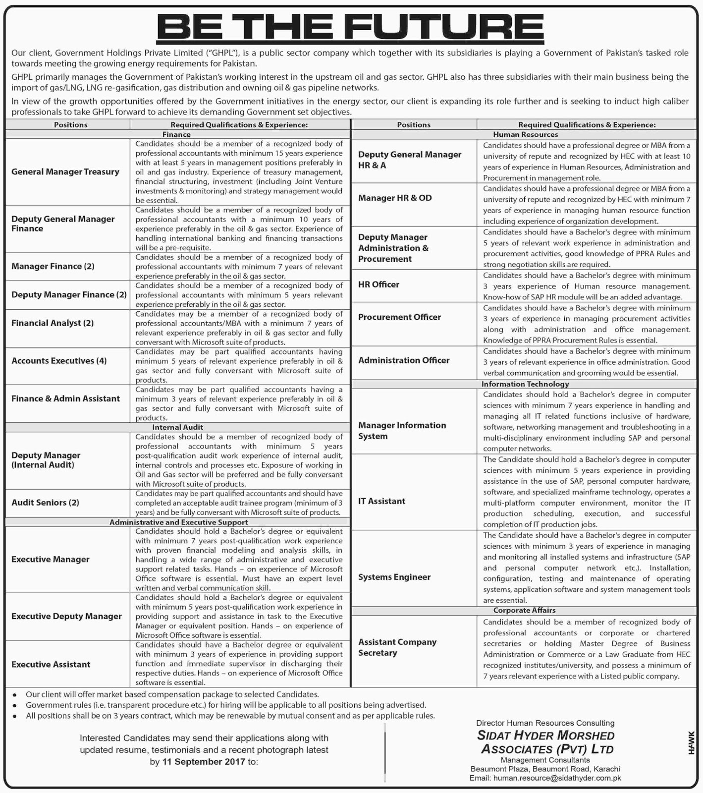 Public Sector Organization jobs in Karachi  Aug 2017