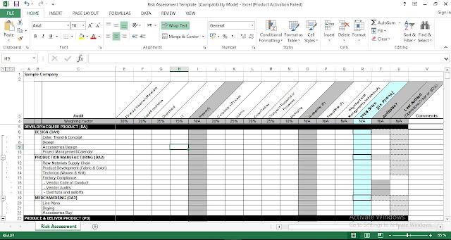 Download Risk Assessment Excel Template - ENGINEERING MANAGEMENT