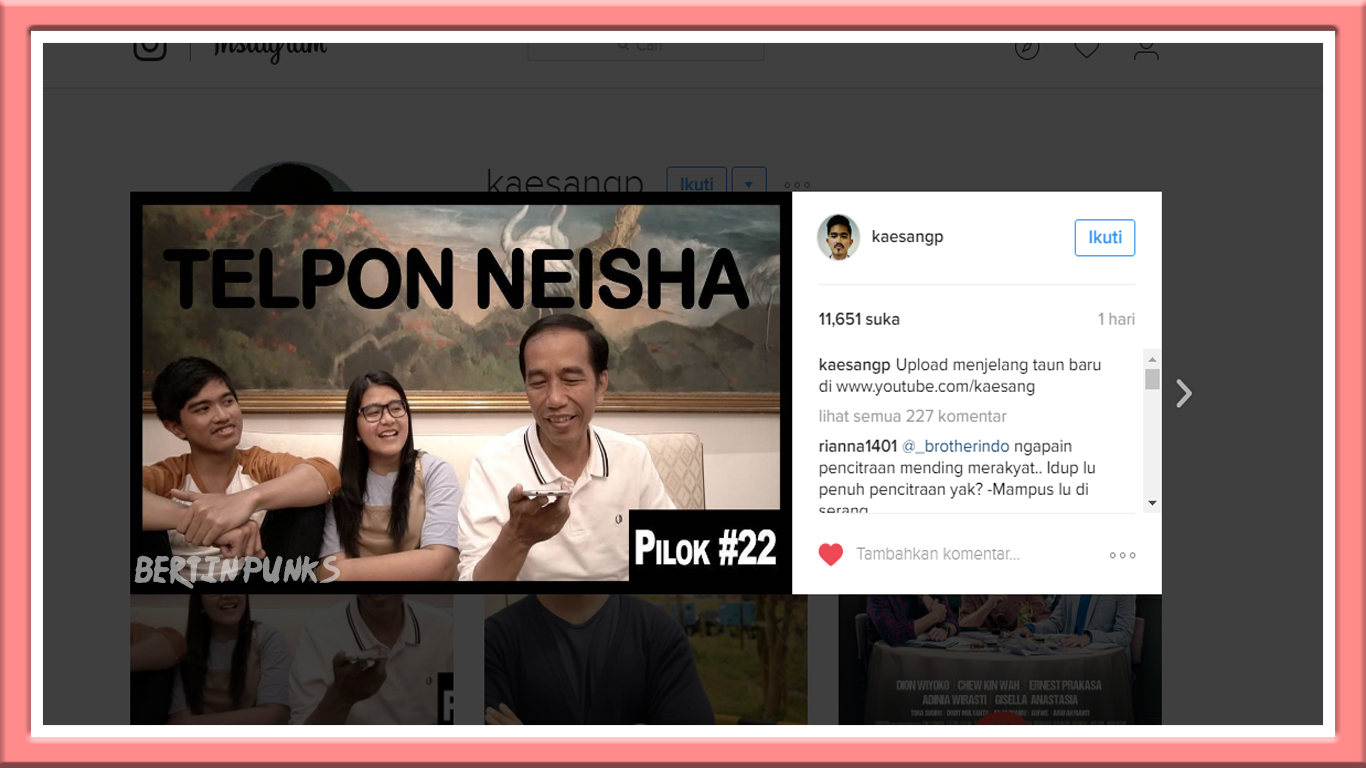 Pak Jokowi adalah Presiden yang paling baik banget