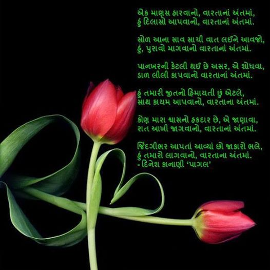 Ek Manas Harvano Varta Na Ant Ma Gujarati Gazal Dinesh Kanani