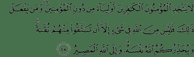 Surat Ali Imran Ayat 28