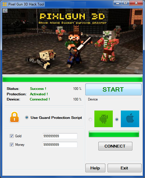 http://androidhackings.blogspot.in/2014/06/pixel-gun-3d-hack-cheats-get-unlimited.html