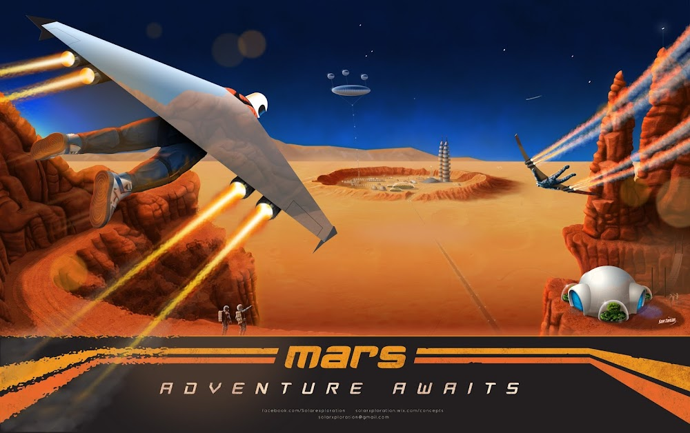 Mars - adventure awaits (poster by Sam Taylor)