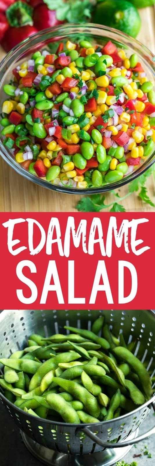 Edamame Salad With Cilantro Lime Dressing