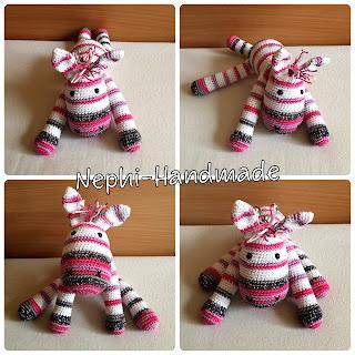 Zebra gehäkelt