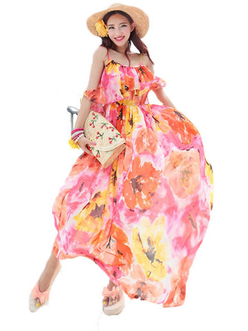 Model ibaju pantai wanitai long dress cantik dan anggun