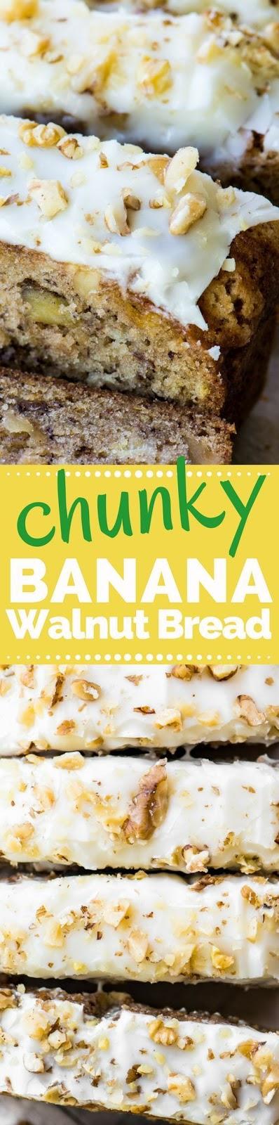 Better than Starbucks Chunky Banana Walnut Bread