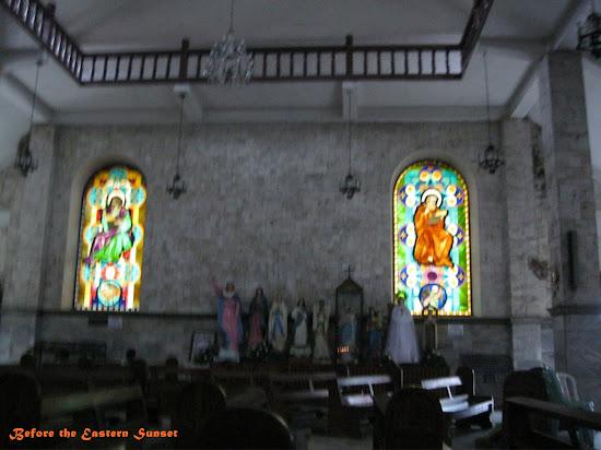 Danao City Church stained-glass window