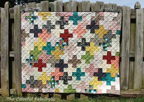 The Colorful Fabriholic Collection Challenge Plus Quilt