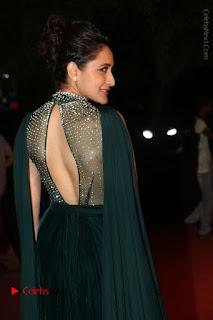 Actress Pragya Jaiswal Stills in Green Long Dress at Gemini TV Puraskaralu 2016 Event  0030.JPG