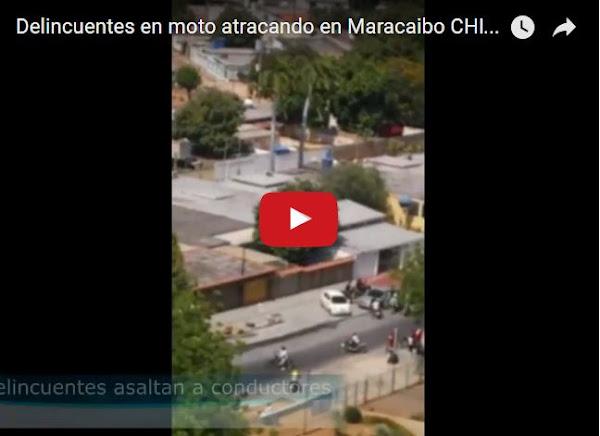 Motorizados atracaron a conductores en Maracaibo