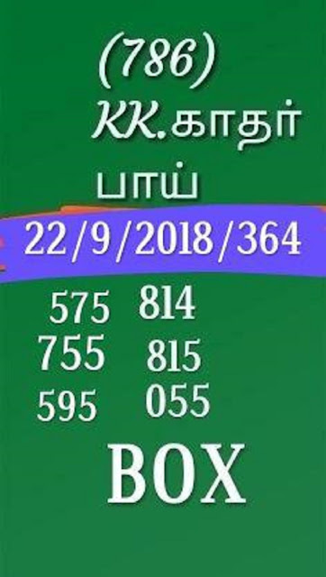kerala lottery guessing box number karunya KR-363 on 22.09.2018 by KK