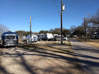 trailers and motorhomes in a campground