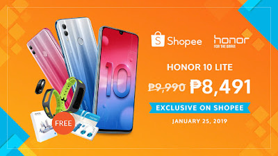 Get first dibs on the Honor 10 Lite exclusively on Shopee