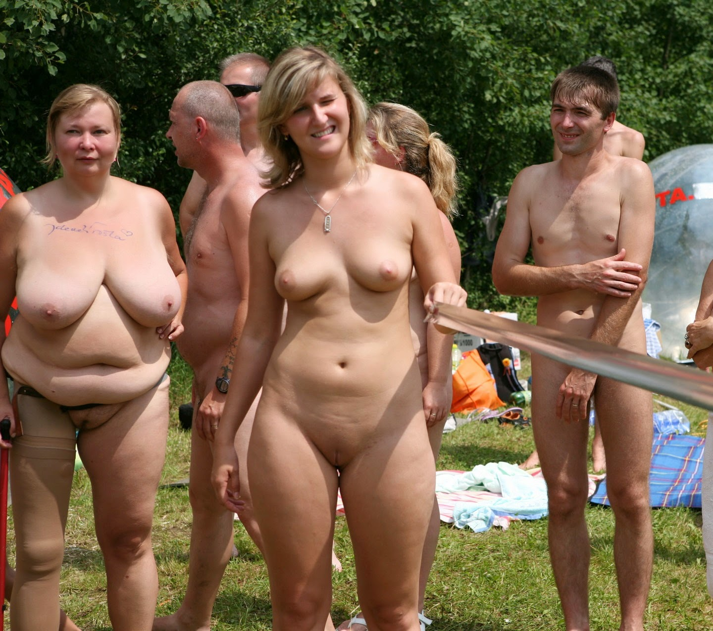 Family nudist naturists talented