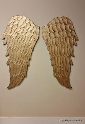 gold wood angel wings