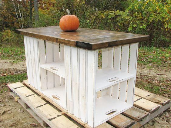 reutilizar caixotes de madeira balcão area externa