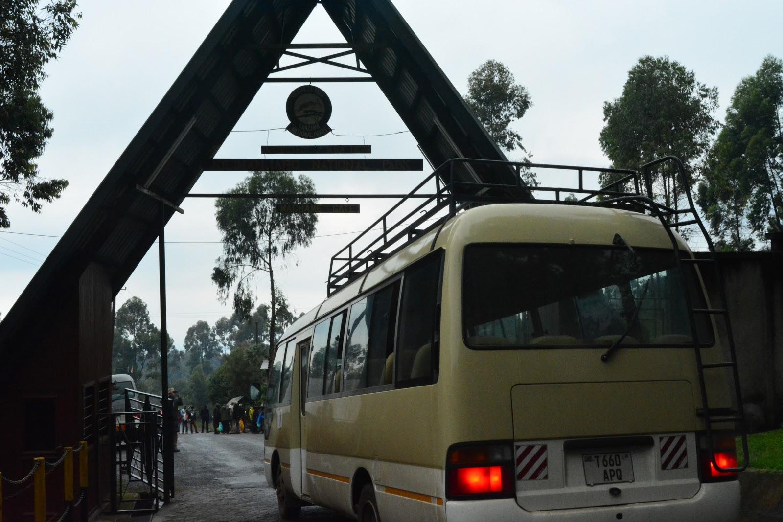 machame gate, bus, tanzania, kilimanjaro, machame route, moshi, hiking, charity, fundraising, travel