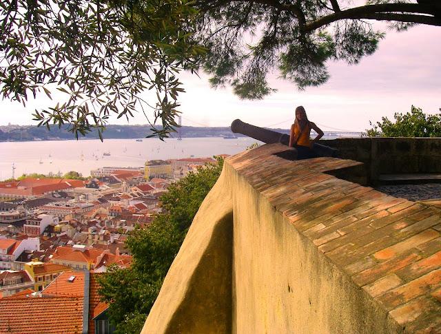 Lissabon - utsikt från Castello