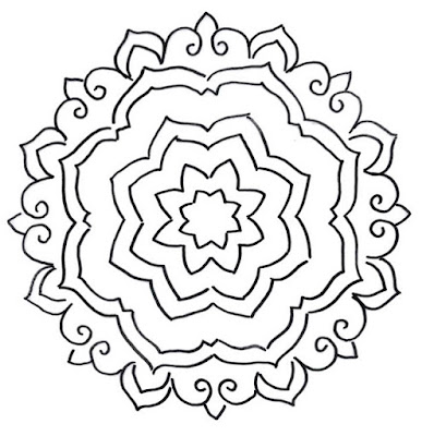 A great mandala to practice your painting skills
