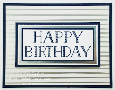 Heart's Delight Cards, Big on Birthdays, Springtime Foils, Birthday Card, Stampin' Up!