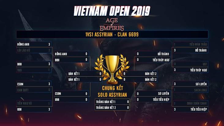 Vòng Tứ kết nội dung Solo Assyrian giải đấu AoE Việt Nam Open 2019: Cuộc nội chiến của các clan chuyên nghiệp