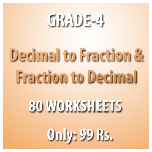 Buy Grade 4 Maths Decimal to Fraction & Fraction to Decimal ...