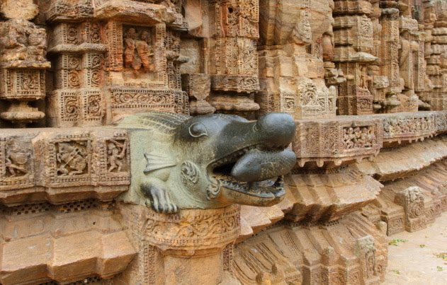 Walls of Konark Sun temple studded with rich sculptures