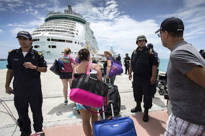 Cruise ship helps flood victims