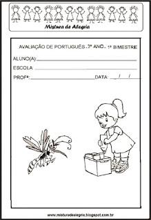 Avaliacao de portugues -tema dengue