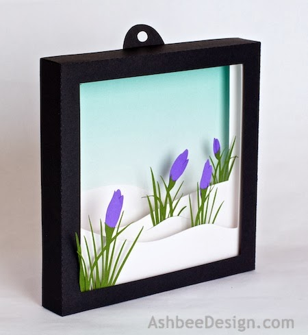 Ashbee Design Silhouette Projects 3d Crocus In Snow