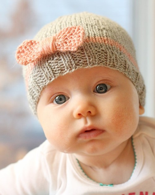 Bow Baby Hat - Free Pattern