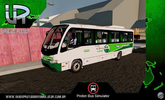 Skin Proton Bus Simulator - Senior Executivo VW 9-150 OD Turismo Três Amigos