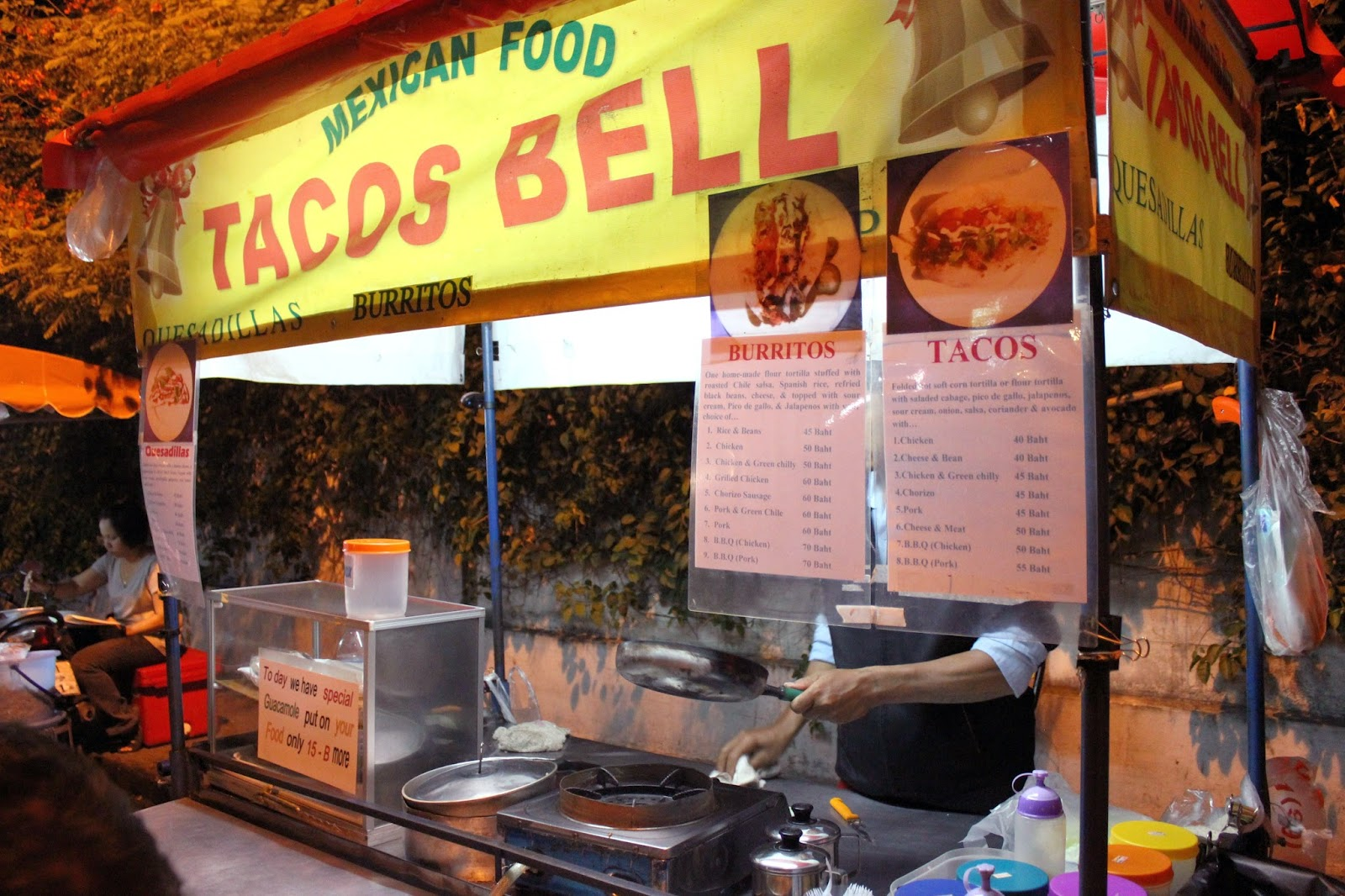 Tacos Bell Mexican street food Chiang Mai