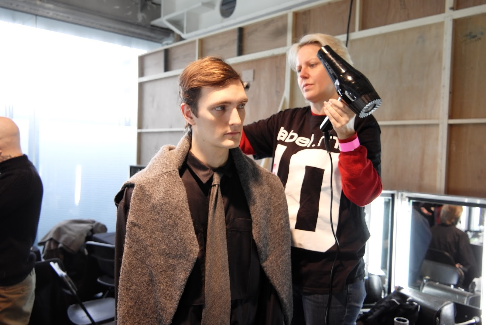 Backstage of the E. Tautz LCM AW16 show.