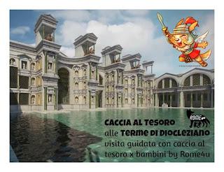 Caccia al tesoro alle Terme di Diocleziano - Visita guidata per bambini a soli €10 comprensivi di biglietto d'ingresso la prima domenica del mese, Roma