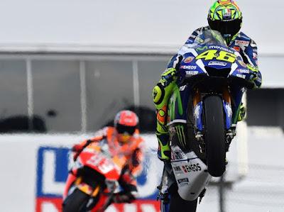 Marquez: Saya Khawatir Karena Rossi Start Terlalu Dekat