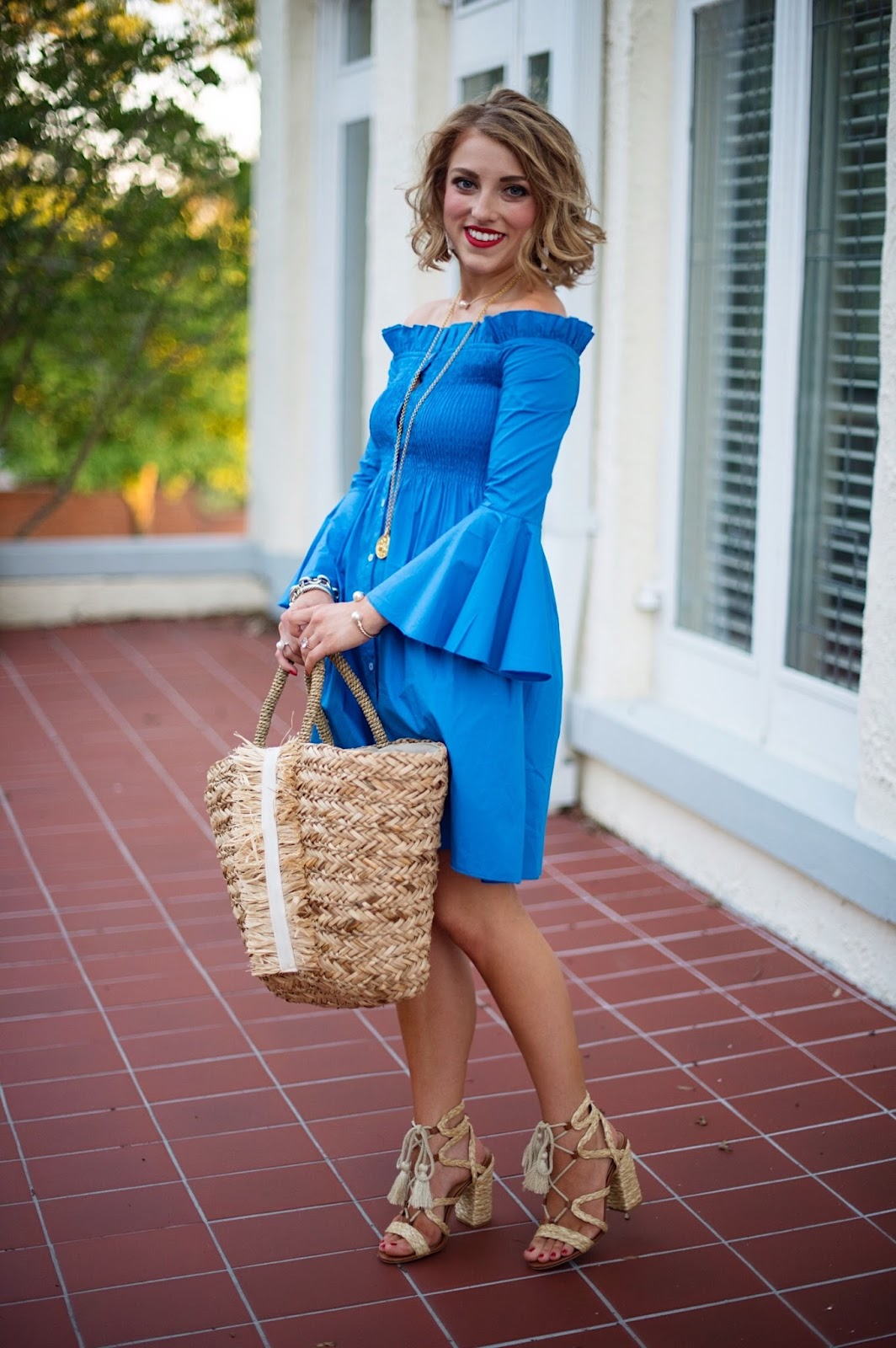 Ruffle Shirt Dress - Click through to see more on Something Delightful Blog!
