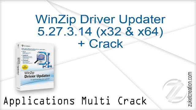 WinZip Driver Updater 5.27.3.14 (x32 & x64) + Crack    |  36.8 MB