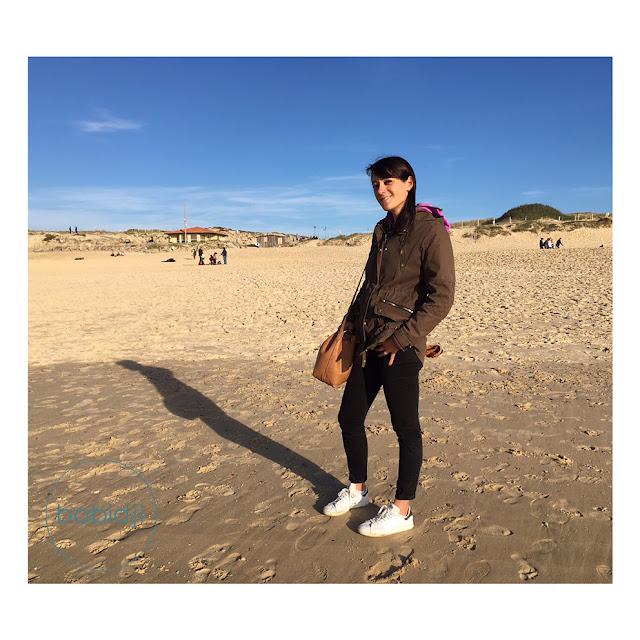femme blogueuse babidji sur la plage de Seignosse
