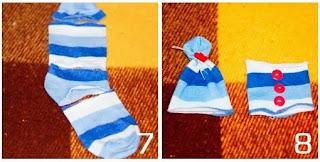 Cara Membuat Kerajinan Tangan Dari Barang Bekas, Boneka Kaus Kaki 4